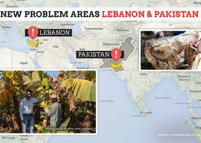New problem areas Pakistan and Lebanon