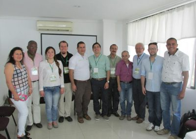 Fernando Garcia at 5th Technical Banana Meeting with group in Colombia